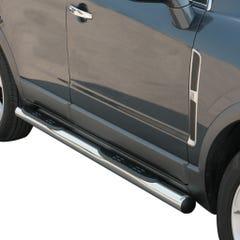 Pair of Stainless Steel 76mm Side Bars with Steps Vauxhall Antara Mk1 (2006 Onwards)