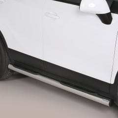 Pair of Side Bars with Steps 76mm Stainless Mach Mokka Mk 1&2 (12 on)