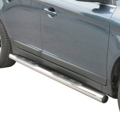 Pair of Stainless Steel 76mm Side Bars with Steps Volvo XC 60 Mk2 (2014 Onwards)