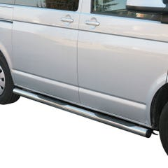 Side Bars with Steps 76mm Stainless Mach for Volkswagen T5 Mk2 (09 on)