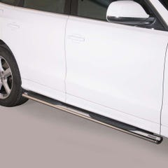 Pair of Oval Stainless Steel 76mm Side Bars with Steps Audi Q5 (2011 Onwards)