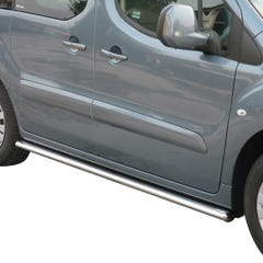 Pair of Oval Stainless Steel 76mm Side Bars with Steps Citroen Berlingo (2006 Onwards)