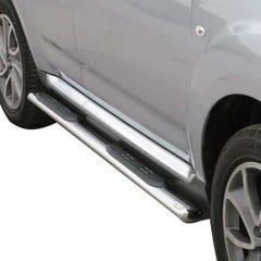 Pair of Oval Stainless Steel 76mm Side Bars with Steps Citroen C-Crosser (2007 Onwards)
