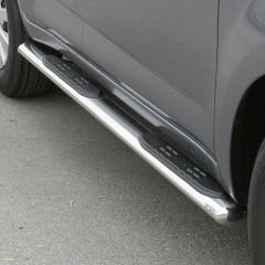 Oval Tube Side Bars with Steps 76mm SS Mach for Daihatsu Terios Mk3 (06 on)