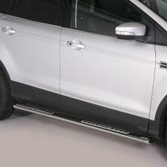 Stainless Steel Oval Tube Side Bars with Design Steps 76mm for Kuga Mk2 (13-16)