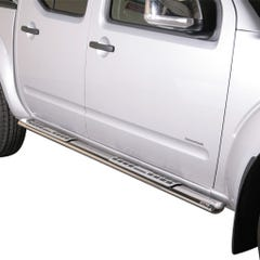 Pair of Oval Tube Side Bars - Design Steps 76mm SS Mach D40 (05-15)