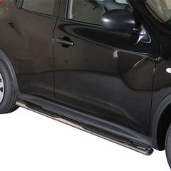 Pair of Oval Tube Side Bars with Design Steps 76mm SS Mach for Nissan Juke Mk1