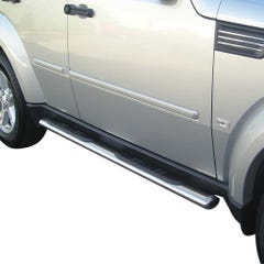 Pair of Oval Stainless Steel 76mm Side Bars with Design Steps Dodge Nitro Mk1 (2006 - 2011)