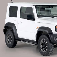 Pair of Oval Stainless Steel 76mm Side Bars with Design Steps Suzuki Jimny Mk5 (2019 Onwards)