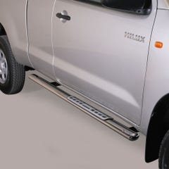 Oval Tube Side Bars with Design Steps SS Mach for Toyota Hilux (2011 on) EC