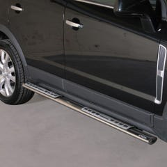 Oval Tube Side Bars - Design Steps 76mm SS Mach for Vauxhall Antara (11 on)