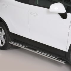 Pair of Oval Stainless Steel 76mm Side Bars with Design Steps Vauxhall Mokka Mk1-2 (2012 - 2016)