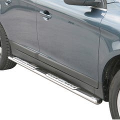 Pair of Oval Stainless Steel 76mm Side Bars with Design Steps Volvo XC60 Mk2 (2014 - 2017)