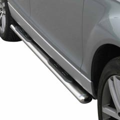 Pair of Oval Stainless Steel 76mm Side Bars with Steps ford Ecosport Mk2 (2018 Onwards)