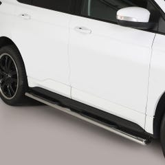 Pair of Oval Stainless Steel 76mm Side Bars with Steps Ford Edge (2016 Onwards)