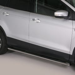Pair of Oval Tube Side Bars with Steps 76mm SS Mach for Ford Kuga Mk2 (13-16)