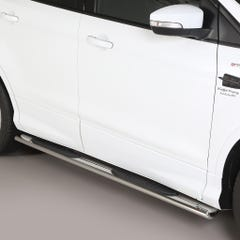Pair of Oval Stainless Steel 76mm Side Bars with Steps Ford Kuga Mk3 (2017 Onwards)