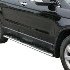 Pair of Oval Stainless Steel 76mm Side Bars with Steps Honda CR-V Mk4 (2007 Onwards)