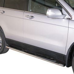 Pair of Oval Stainless Steel 76mm Side Bars with Steps Honda CRV (2010 - 2012)