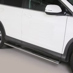 Pair of Oval Stainless Steel 76mm Side Bars with Steps Honda CRV (2013 Onwards)