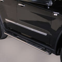Pair of Oval Stainless Steel 76mm Side Bars with Steps Jeep Grand Cherokee