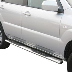 Pair of Oval Stainless Steel 76mm Side Bars with Steps Sportage Mk4 (2008 - 2010)