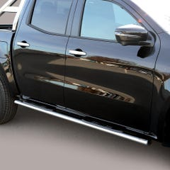 Pair of Oval Tube Side Bars with Steps 76mm SS Mach for Mercedes X Class (18 on)