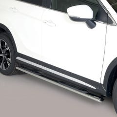 Pair of Oval Stainless Steel 76mm Side Bars with Steps Mitsubishi Eclipse (2018 Onwards)