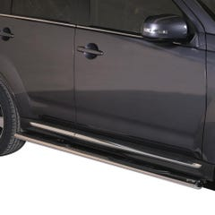 Oval Tube Side Bars with Steps 76mm SS Mach for Mitsubishi Outlander Mk4 (10-12)