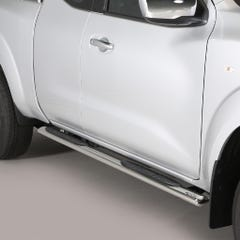 Oval Tube Side Bars with Steps 76mm SS Mach Nissan Navara NP300 (16 on) EC