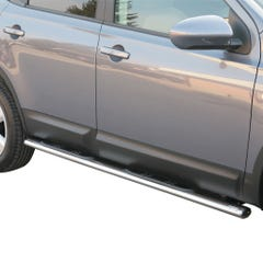 Pair of Oval Tube Side Bars with Steps 76mm SS Mach for Nissan Qashqai+2