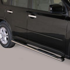 Pair of Oval Stainless Steel 76mm Side Bars with Steps Nissan X-Trail (2011 - 2014)