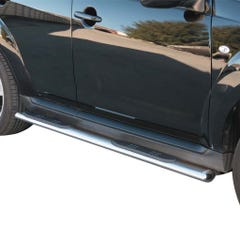 Pair of Oval Tube Side Bars with Steps 76mm SS Mach for Peugeot 4007 (07 on)