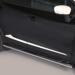 Oval Tube Side Bars with Steps 76mm SS Mach for Renault Captur Mk1 (13 on)