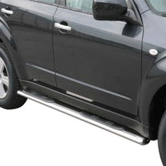 Oval Tube Side Bars with Steps 76mm SS Mach for Subaru Forester Mk5 (08-13)