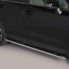 Pair of Oval Stainless Steel 76mm Side Bars with Steps Subaru Forester Mk6 (2014 Onwards)