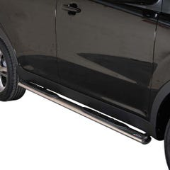 Pair of Oval Stainless Steel 76mm Side Bars with Steps Korando (2011 Onwards)