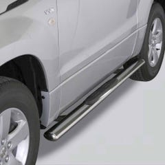 Pair of Oval Tube Side Bars with Steps 76mm SS Mach Grand Vitara 3 Dr Mk3