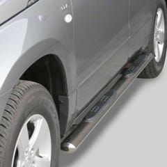 Oval Tube Side Bars with Steps 76mm SS Mach for Suzuki Grand Vitara 5 Dr Mk3