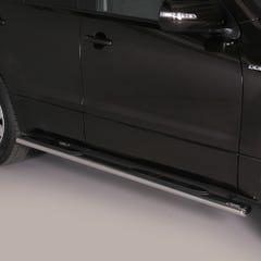 Pair of Oval Stainless Steel 76mm Side Bars with Steps Suzuki Grand Vitara Mk4 (2013 Onwards) 5 Door