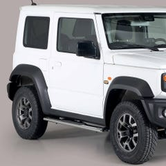 Pair of Oval Stainless Steel 76mm Side Bars with Steps Suzuki Jimny Mk5 (2019 Onwards)