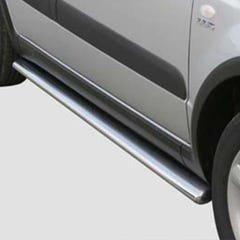 Pair of Oval Stainless Steel 76mm Side Bars with Steps Suzuki SX4 (2008 Onwards)