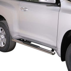 Oval Tube Side Bars with Steps 76mm SS Mach for Toyota L/C 150 3 Door Mk2 14on