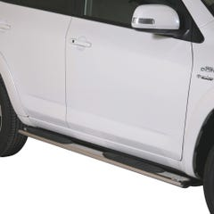 Pair of Oval Stainless Steel 76mm Side Bars with Steps Toyota Rav4 Mk6 (2010 - 2013)
