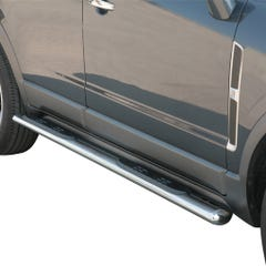 Pair of Oval Stainless Steel 76mm Side Bars with Steps Vauxhall Antara Mk1 (2006 Onwards)