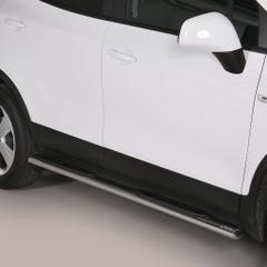 Pair of Oval Stainless Steel 76mm Side Bars with Steps Vauxhall Mokka Mk1-2 (2012 Onwards)