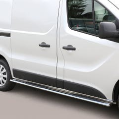 Pair of Oval Tube Side Bars with Steps 76mm SS Mach for Vivaro Mk3 (2014 on)