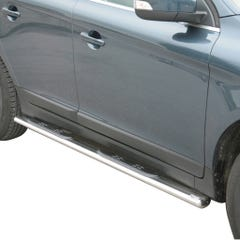 Pair of Oval Stainless Steel 76mm Side Bars with Steps Volvo XC60 Mk2 (2014 Onwards)