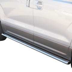 Oval Tube Side Bars with Steps 76mm SS Mach for Hyundai H1 (08 on)