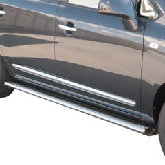 Oval Tube Side Bars with Steps 76mm for Kia Carens 03-06 (03-06)
